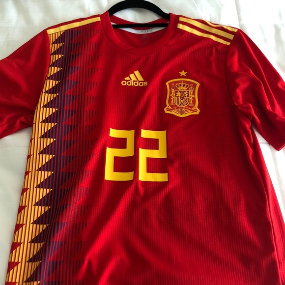 buy online f63b0 c9cbc Adidas Spain 2018 World Cup Isco Authentic Jersey